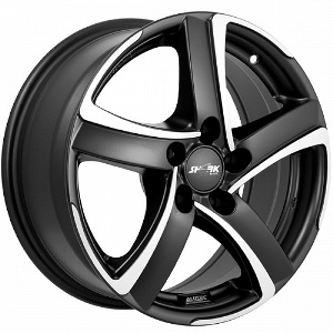 Литой диск Alutec Shark 7.5x17 5x114.3 ET47.0 D70.1 Racing Black Front Polish
